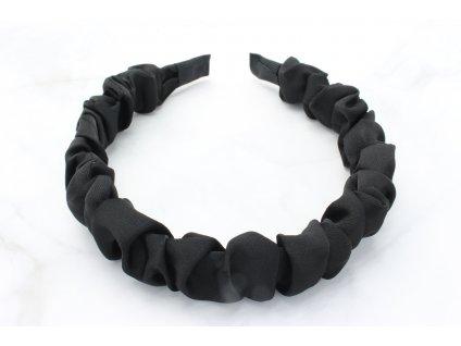 Čierna nariasená čelenka