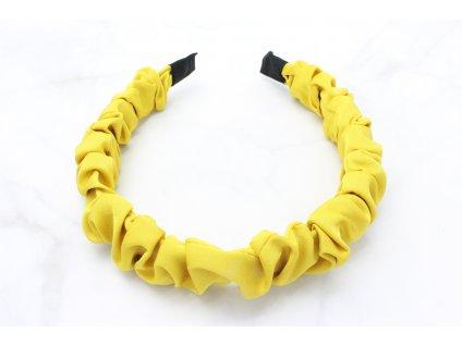 Žltá nariasená čelenka