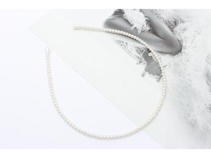 Jemná perlová čelenka