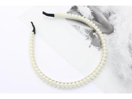 Štýlová perlová čelenka do vlasov