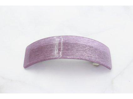 Francúzska spona trblietavo fialová obdĺžnik