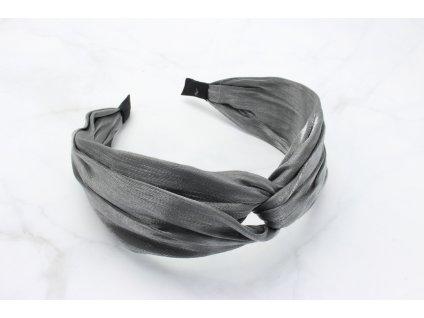 Čelenka s prekladom v tmavo sivej farbe