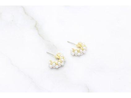 Trendy perlové polkruhy Mini Gold