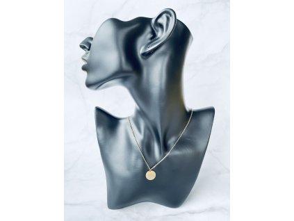 Retiazka z chirurgickej ocele Medailón Gold