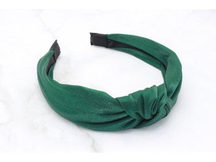 Čelenka smaragdová lesklá s uzlom