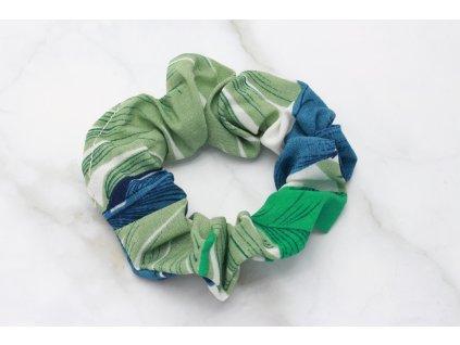 Scrunchie Zelený vzor