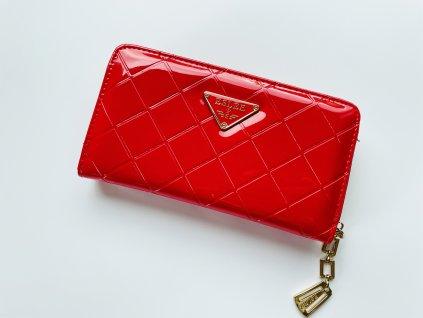 Lesklá červená peňaženka ESLEE SI