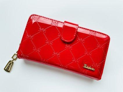 Lesklá červená peňaženka ESLEE LI
