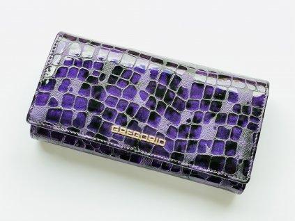 Kožená fialová peňaženka GREGORIO