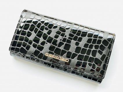 Kožená čierna peňaženka GREGORIO
