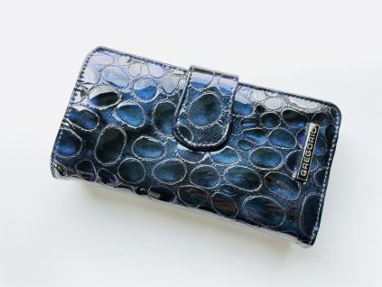 Kožená fialovo modrá peňaženka GREGORIO