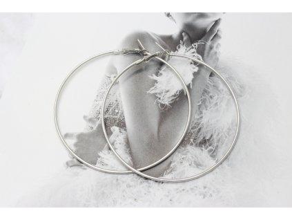 Strieborné náušnice kruhy 7,5 cm