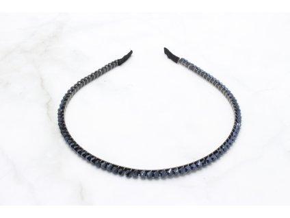 Čelenka do vlasov s oceľovými korálikmi