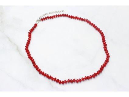 Korálkový náhrdelník Kiara Red