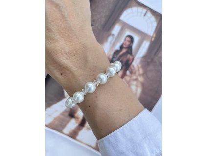 Perlový náramok White Pearls