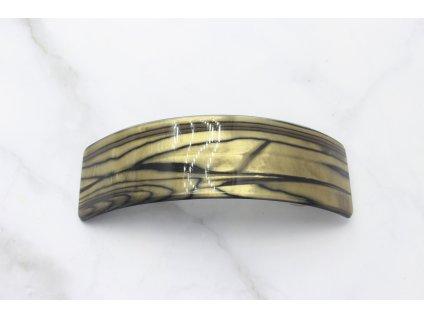 Francúzska spona Ellia-čierno zlatý vzor