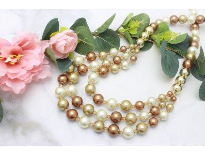 Perlový náhrdelník Thalia Gold