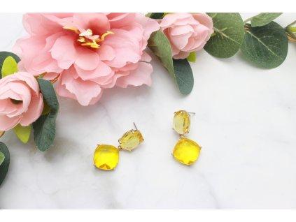 Žlté kamienkové náušnice Jilian