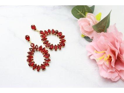 Kamienkové náušnice Piu Red