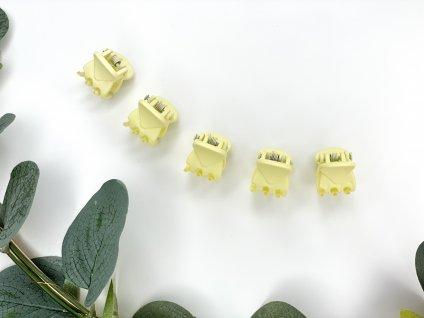 Set svetlo žltých štipcov 5 ks