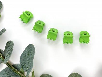 Set zelených štipcov 5 ks