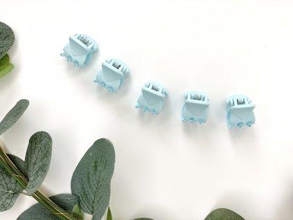 Set svetlo modrých štipcov 5 ks