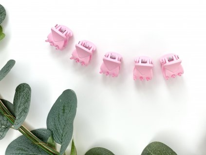 Set baby ružových štipcov 5 ks