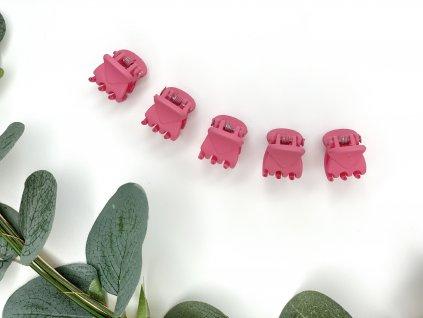 Set ružových štipcov 5 ks