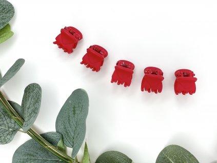 Set červených štipcov 5 ks