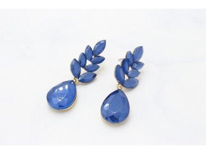 Žiarivé kamienkové náušnice Rita Blue