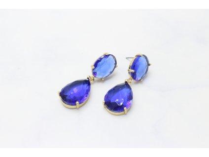 Modré kamienkové náušnice Jilian