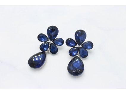 Kamienkové náušnice Flower Blue