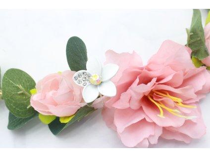 Vlásenka do vlasov Biely kvet s kamienkami
