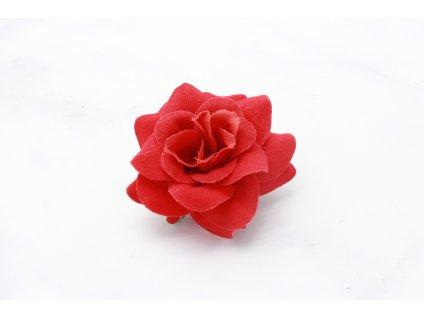 Červená ruža do vlasov na pinete