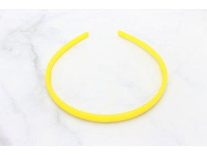 Tenká plastová čelenka do vlasov / žltá