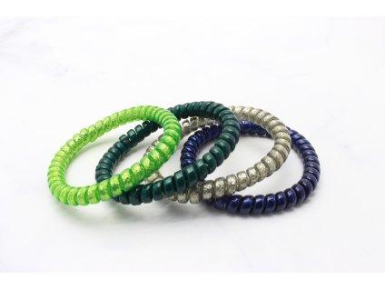 Set 4 špirálových gumičiek GREEN