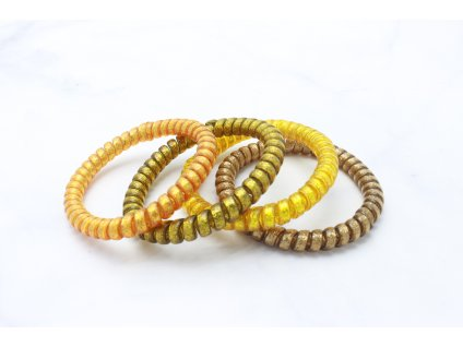 Set 4 špirálových gumičiek GOLD
