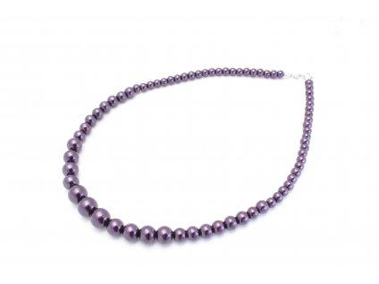 Perlový náhrdelník fialový
