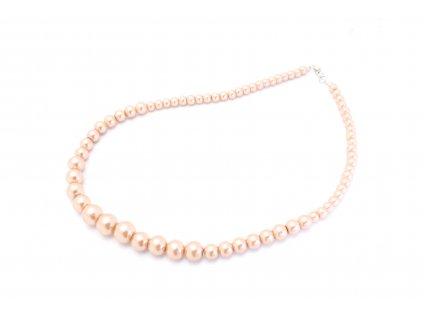 Perlový náhrdelník béžový
