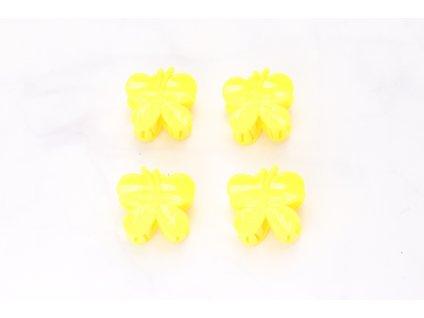 Štipec žlté motýle 4 ks