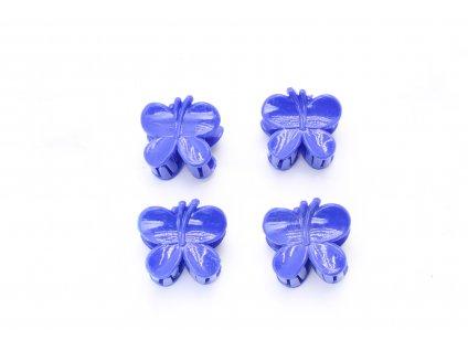 Štipec modré motýle 4 ks