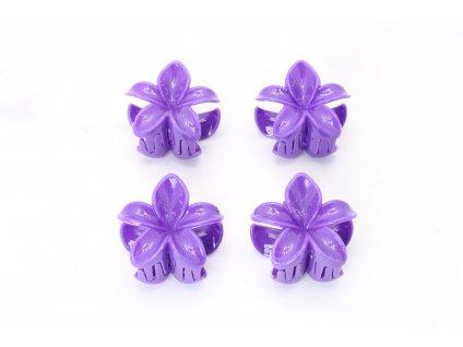 Štipec fialové kvety  4 ks