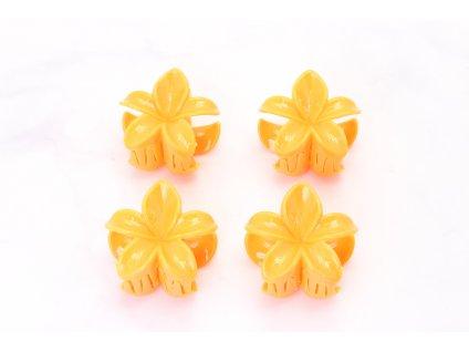 Štipec oranžové kvety 4 ks