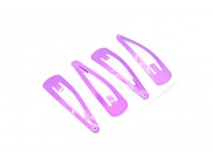 Pukačky trblietavé fialové 4 ks