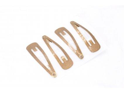 Pukačky trblietavé bronzové 4 ks