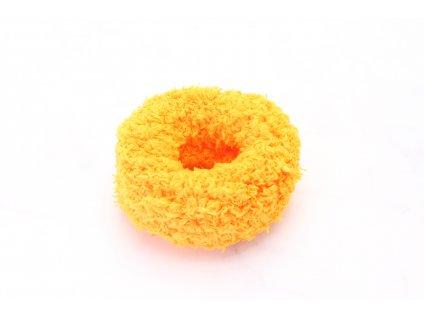 Oranžová mäkká gumička väčšia