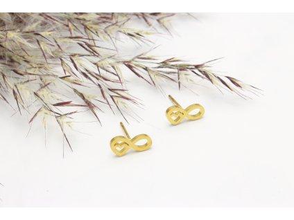 Náušnice z chirurgickej ocele Love Gold