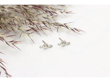Náušnice z chirurgickej ocele Husľový kľúč