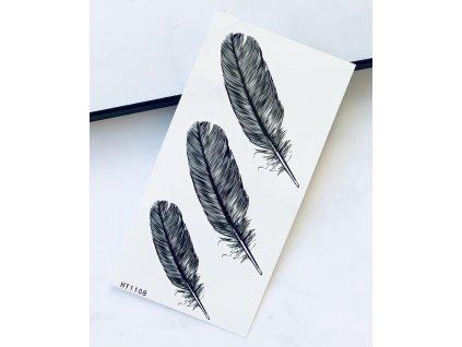 Tetovačka čierno sivé pierka