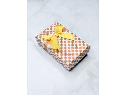 Darčeková krabička žltá mašľa 2